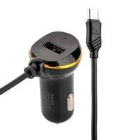 Автомобильное зарядное устройство для MicroUSB & USB Hoco Z14