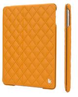 Стеганый желтый кожаный чехол Jisoncase для iPad Air