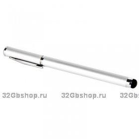Стилус-ручка для iPhone 5 серебряный