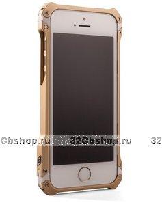 Алюминиевый бампер Vapor Sector 5 Gold для iPhone 5s / SE / 5 - золотой