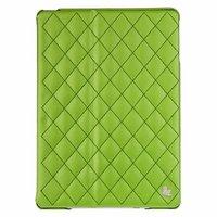 Стеганый зеленый кожаный чехол Jisoncase для iPad Air