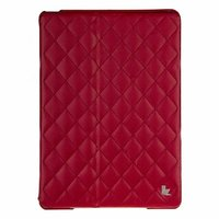 Стеганый красный кожаный чехол Jisoncase для iPad Air