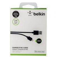 Кабель для iPhone 6s / 6 / 5s / 5 - Belkin Lightning (Белкин) черный - 1,2 метра