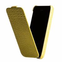 Кожаный чехол Borofone для iPhone 5c зеленый - Borofone Crocodile  flip Leather case Green