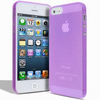 Супертонкий чехол Mobi Cover для iPhone 5s / SE / 5 - Ultra Thin Slim Matte Case 0.3mm фиолетовый