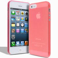 Супертонкий чехол Mobi Cover для iPhone 5s / SE / 5 - Ultra Thin Slim Matte Case 0.3mm красный