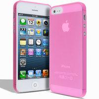 Супертонкий чехол Mobi Cover для iPhone 5s / SE / 5 - Ultra Thin Slim Matte Case 0.3mm розовый
