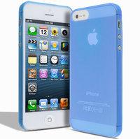 Супертонкий чехол Mobi Cover для iPhone 5s / SE / 5 - Ultra Thin Slim Matte Case 0.3mm голубой