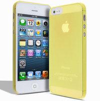 Супертонкий чехол Mobi Cover для iPhone 5s / SE / 5 - Ultra Thin Slim Matte Case 0.3mm желтый