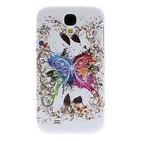 Силиконовый чехол для Samsung Galaxy S4 белый с узором бабочки