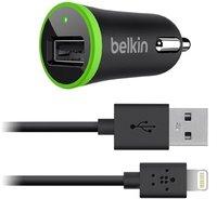 Автомобильное зарядное устройство АЗУ Belkin 1 A для iPhone 5 / 5S / 6s / 6 / SE / 7 (с кабелем USB to lightning)