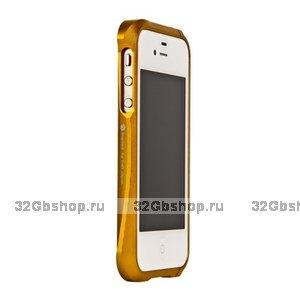 Бампер алюминиевый Deff Cleave для iPhone 4/4S бронзовый