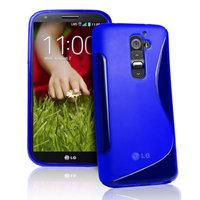 Силиконовый чехол для LG G2 D802 - S Line Wave Case Blue синий
