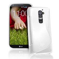 Силиконовый чехол для LG G2 D802 - S Line Wave Case White белый