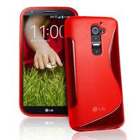 Силиконовый чехол для LG G2 D802 - S Line Wave Case Red красный