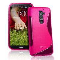 Силиконовый чехол для LG G2 D802 - S Line Wave Case Pink розовый