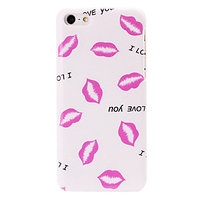 Пластиковый чехол накладка для iPhone 5c розовые губы - Pink Lips Pattern Case
