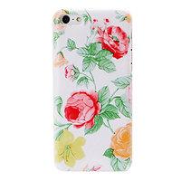 Пластиковый чехол накладка для iPhone 5c красные и желтые цветы - Red and Yellow Flowers Pattern Case