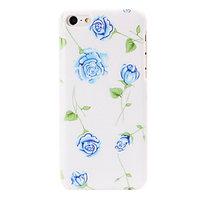 Пластиковый чехол накладка для iPhone 5c голубые розы - Small Blue Roses Pattern Case