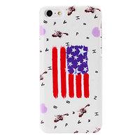 Пластиковый чехол накладка для iPhone 5c американский флаг - USA Flag Pattern Case