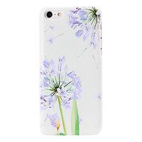 Пластиковый чехол накладка для iPhone 5c фиолетовые цветы - Violet Flowers Pattern Case