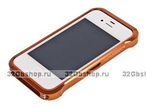 Бампер металлический Vapor для iPhone 4/4S оранжевый
