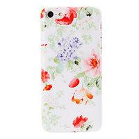 Пластиковый чехол накладка для iPhone 5c фиолетовые и красные цветы - Violet and Red Flowers Pattern Case