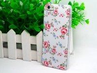 Пластиковый чехол накладка для iPhone 5c красные цветы - Red Flowers Pattern Case
