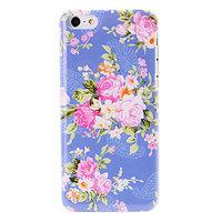 Пластиковый чехол накладка для iPhone 5c фиолетовый с цветами - Flowers Pattern Case Purple