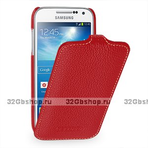 Чехол книжка Art Case для Samsung Galaxy S4 mini i9190 красный