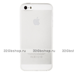 Матовый силиконовый чехол накладка для iPhone 5s / SE / 5