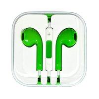 Зеленые стерео наушники для iPhone 5s / 5 гарнитура с микрофоном и регулировкой громкости