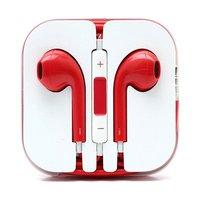 Красные стерео наушники для iPhone 5s / 5 гарнитура с микрофоном и регулировкой громкости
