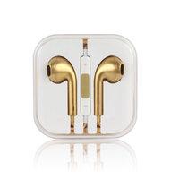 Золотые стерео наушники для iPhone 5s / 5 гарнитура с микрофоном и регулировкой громкости