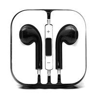 Черные стерео наушники для iPhone 5s / 5 гарнитура с микрофоном и регулировкой громкости