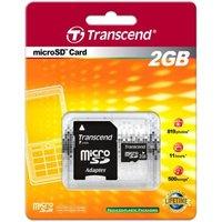 Карта памяти Transcend microSD 2GB + адаптер