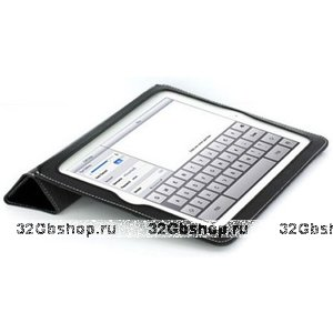 Сумка футляр-книга Yoobao для iPad 2 кожа чёрная (ismart case)