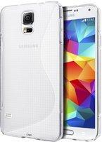 Прозрачный силиконовый чехол для Samsung Galaxy S5 - S Style Soft Silicone Case Transparent