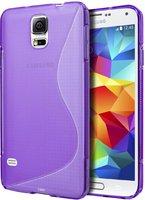 Фиолетовый силиконовый чехол S-Style для Samsung Galaxy S5 - S Style Soft Silicone Case Purple