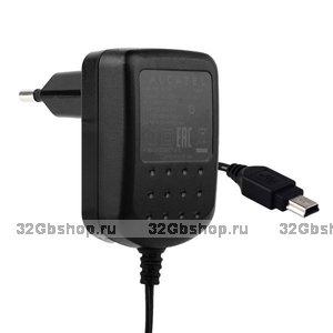 Сетевое зарядное устройство Charger miniUSB 5.0 V 350 mA (Alcatel)