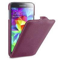 Кожаный чехол книжка Melkco Jacka Type Purple LC для Samsung Galaxy S5 i9600 - фиолетовый