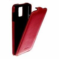 Кожаный чехол книжка Melkco Jacka Type Red LC для Samsung Galaxy S5 GT-I9600 - красный