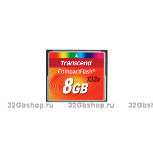 Карта памяти Compact Flash 8Gb Transcend 133x