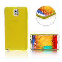 Ультратонкий чехол для Samsung Galaxy Note 3 N9000 желтый матовый 0.3mm Ultra Thin Matte Yellow Case
