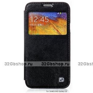 Чехол книжка с окошком HOCO для Samsung Galaxy S5 черный