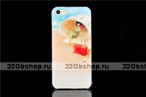 Чехол накладка для iPhone 5s / SE / 5 пляж