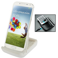 Белая док станция для Samsung Galaxy S4 IV зарядка для телефона и аккумулятора - Phone & Battery Docking Station