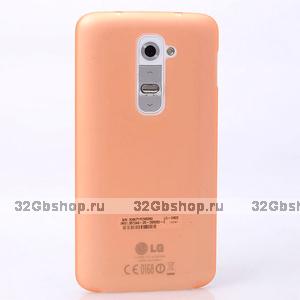 Ультратонкий оранжевый матовый чехол для LG Optimus G2 0.3mm Ultra Thin Slim Matte Case Orange
