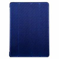 Чехол Melkco для iPad Air Leather Case Slimme Cover Carbon Fiber Pattern - Blue
