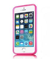 Розовый силиконовый бампер для iPhone 5s / SE / 5 матовый